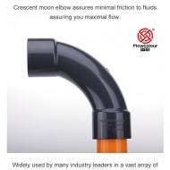 90 Derece Eğimli Dirsek ( Bend Elbow ) - 32mm - Gri