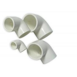90 Derece Dirsek (SxS) - 20mm - Beyaz