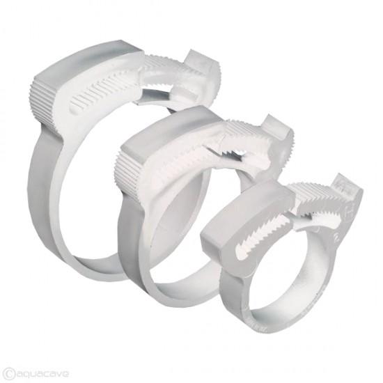 Hortum Kelepçesi ( Hose Clamp ) - 20mm - Beyaz Polyamid