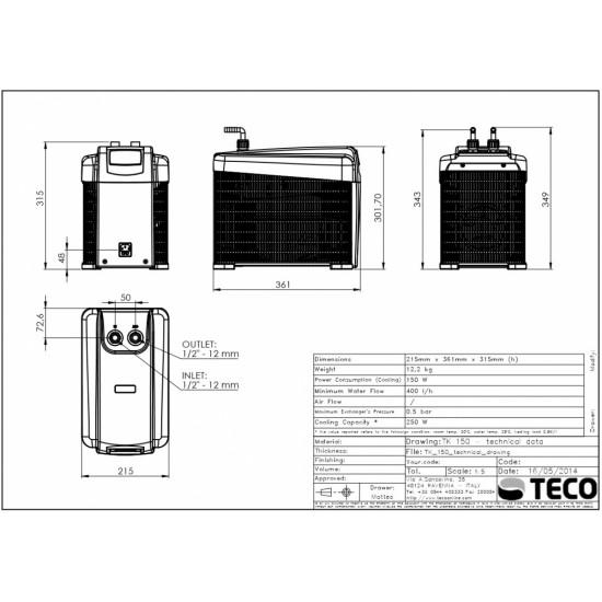 Teco TK 150 - Soğutucu