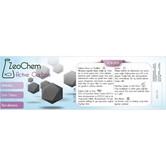 ZeoChem Aktif Karbon | 500ml  (250gr)